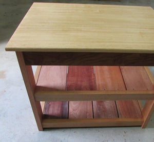 Natural Timber Shelved Cabinet