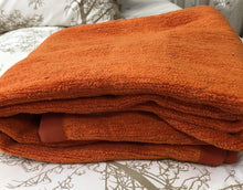 Load image into Gallery viewer, Cotton Chenille  Blanket in orange
