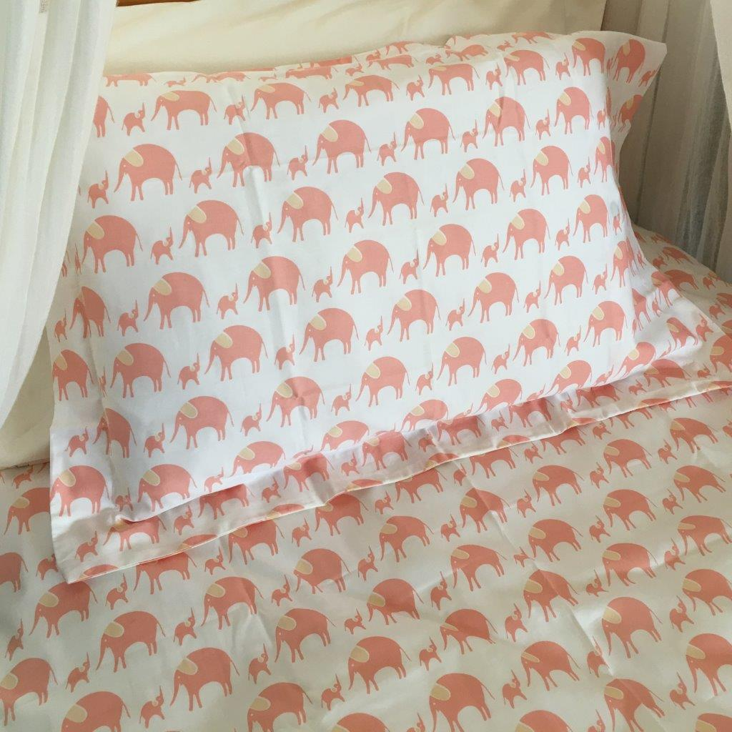 Simple Luxury Sheet Set in Elephants - Cot