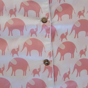 Ladies  Long Sleeve Pyjamas Tops in Simple luxury Elephants
