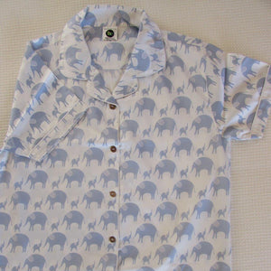 Ladies  Short Sleeve Pyjamas Tops in Simple luxury Elephants