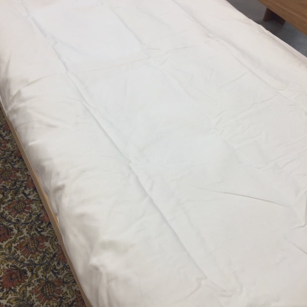 'Denim' Fitted Sheet/Mattress Protector in Natural