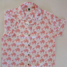 Load image into Gallery viewer, Ladies  Long Sleeve Pyjamas Tops in Simple luxury Elephants