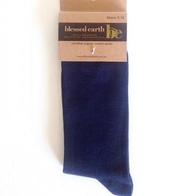 Mens Calf Sock - Navy