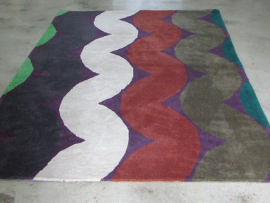 Conventional Wool Rug - Squiggles