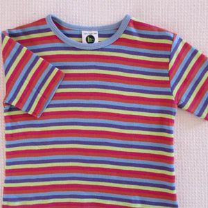 Childrens Short Sleeve Striped Crew