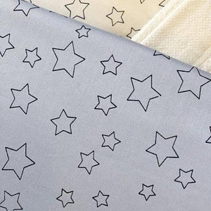 Simple Luxury Quilt Set in Silver Dawn Star Design