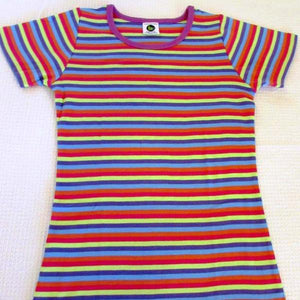 Ladies Short sleeve Stripe crew