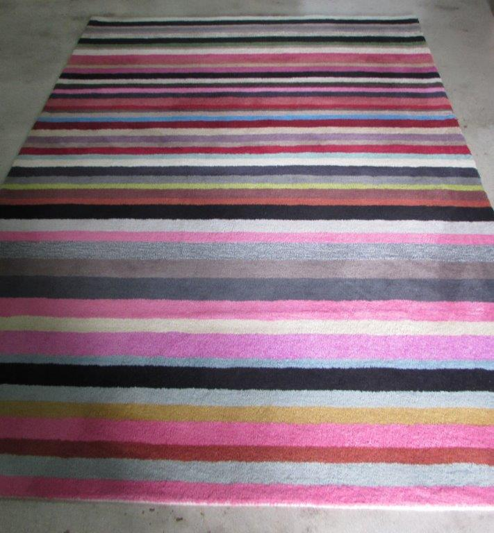 Conventional Wool Rug Stripes