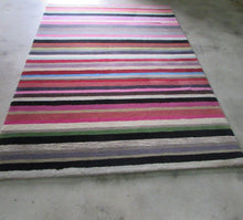 Load image into Gallery viewer, Conventional Wool Rug Stripes