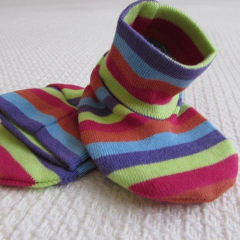 Baby Booties   - Stripe
