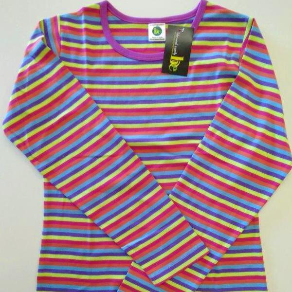 Ladies Long  sleeve Stripe crew
