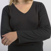 Load image into Gallery viewer, Ladies Long Sleeve Vee