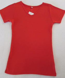 Ladies Short Sleeve Vee