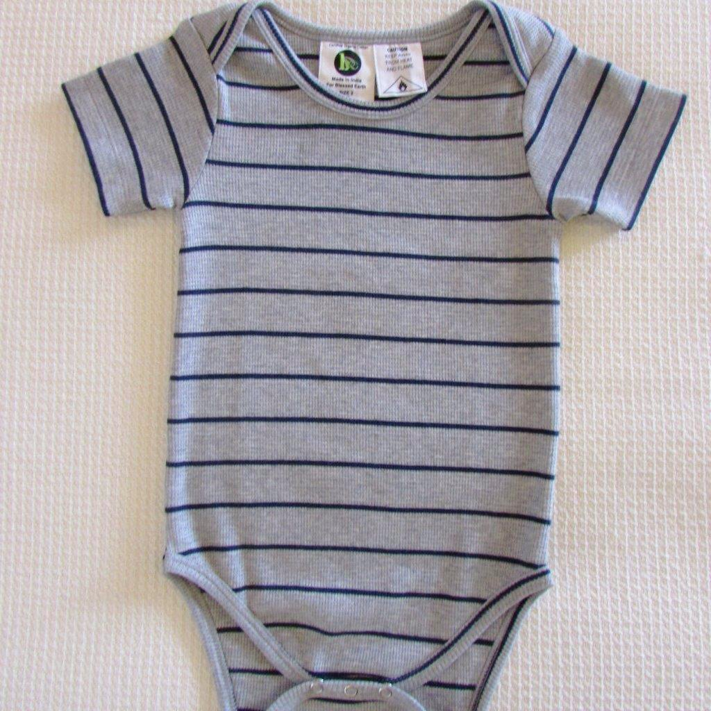 Baby Short Sleeve Bodysuits - Striped