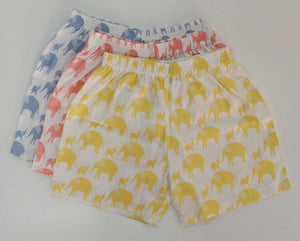 Childrens Short - in Yellow Elephants