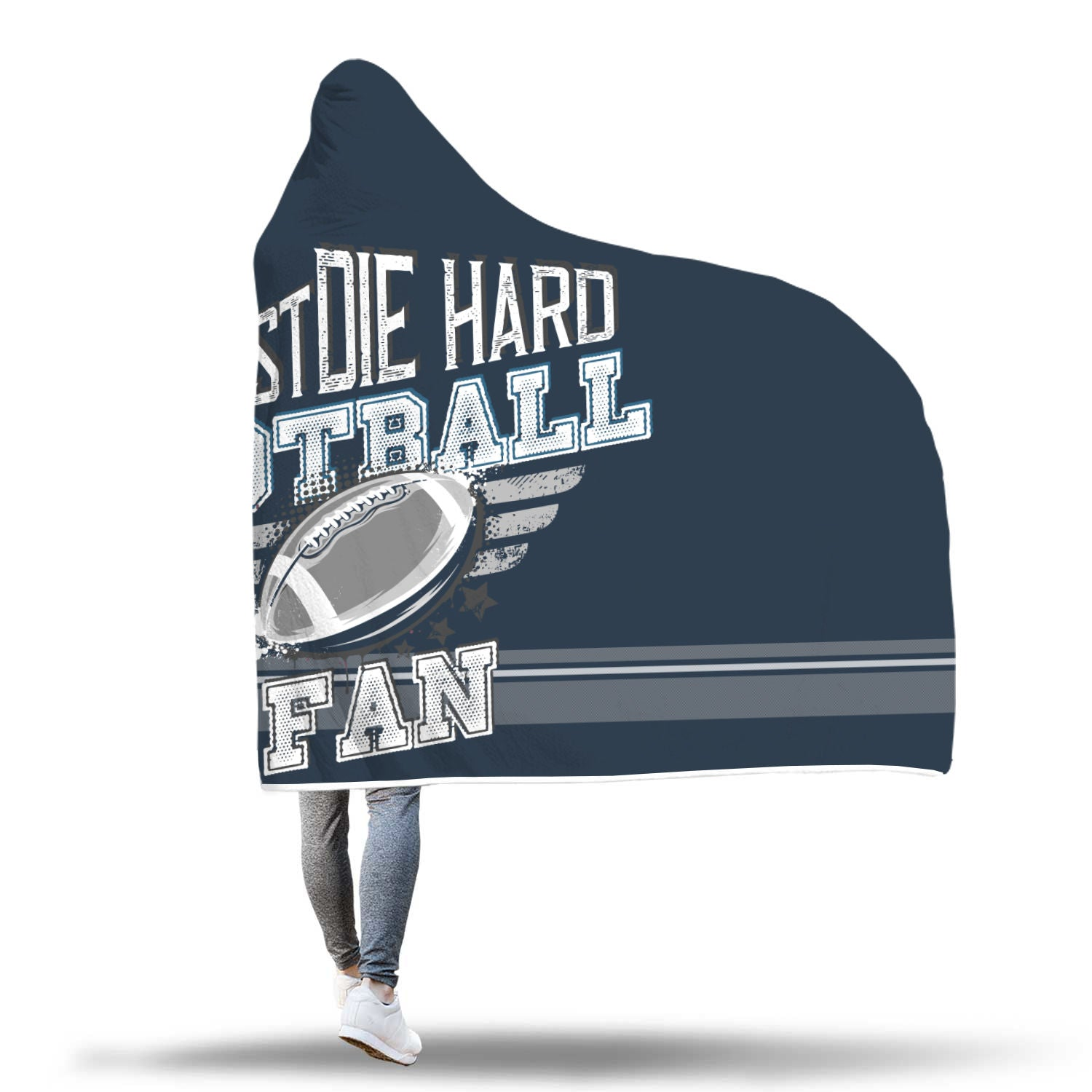 Dark Blue Football Bleacher Blanket
