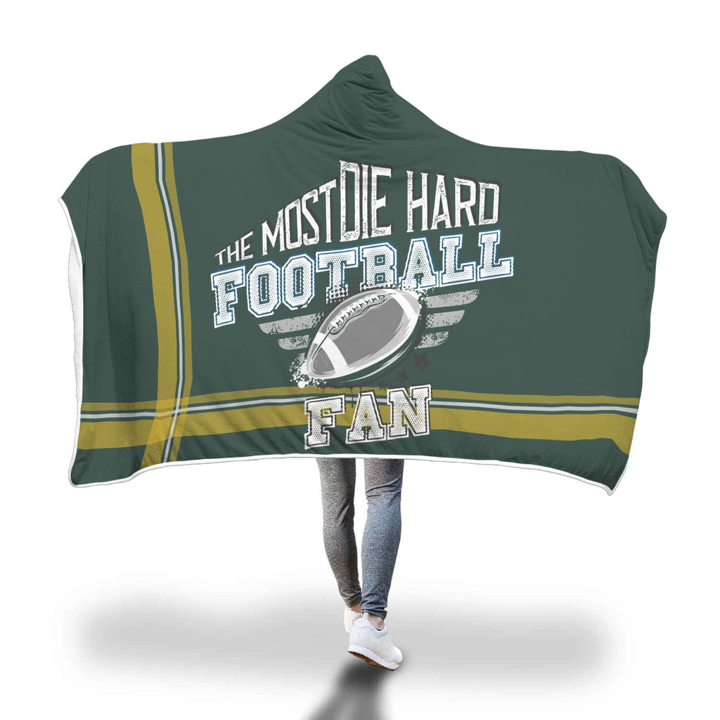 Dark Green Football Bleacher Blanket