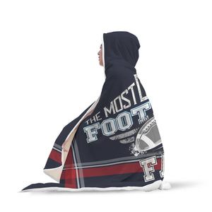 Navy Red Gray Football Bleacher Blanket