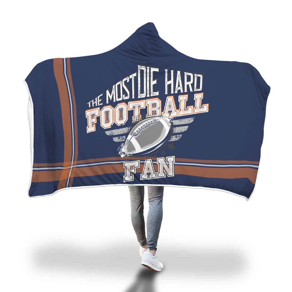 Blue Orange Football Bleacher Blanket