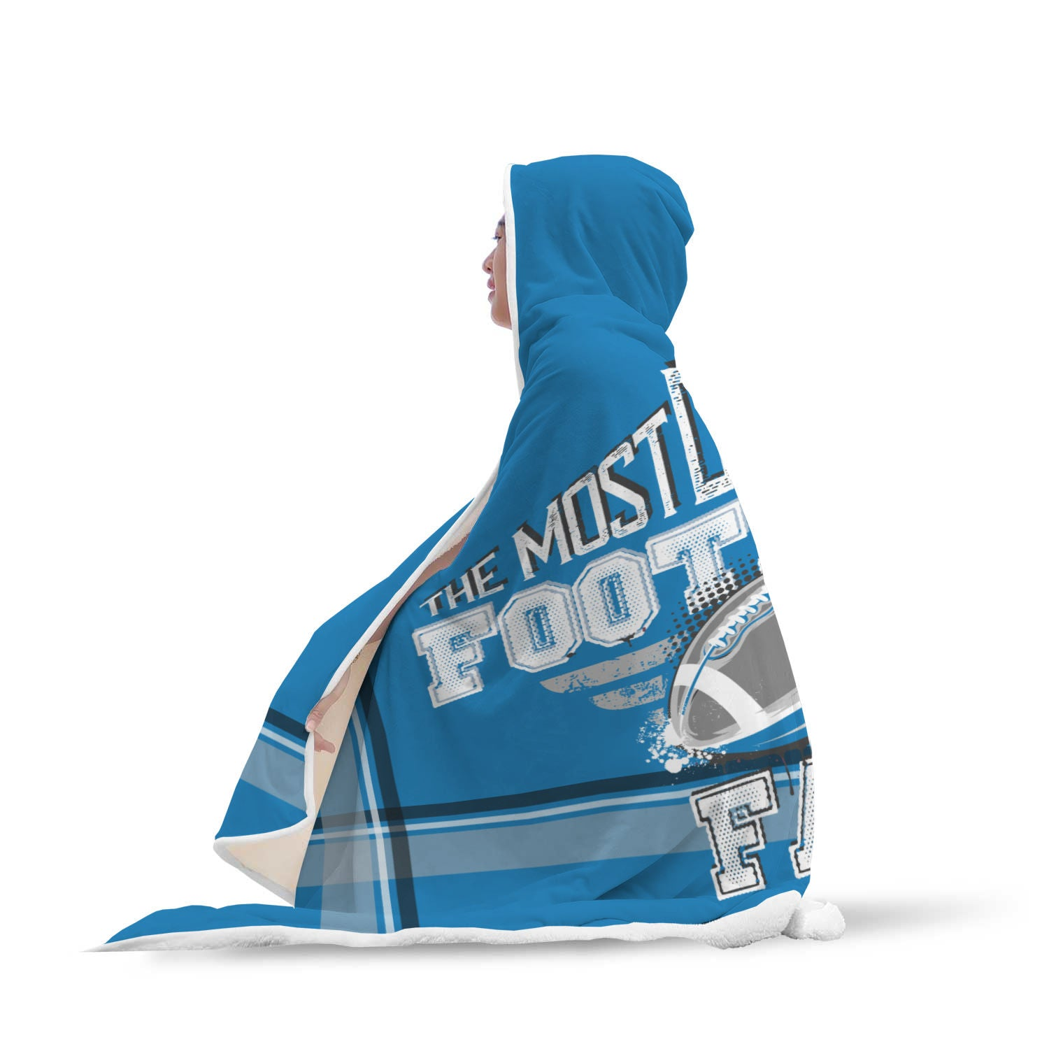 Royal and Silver Football Bleacher Blanket