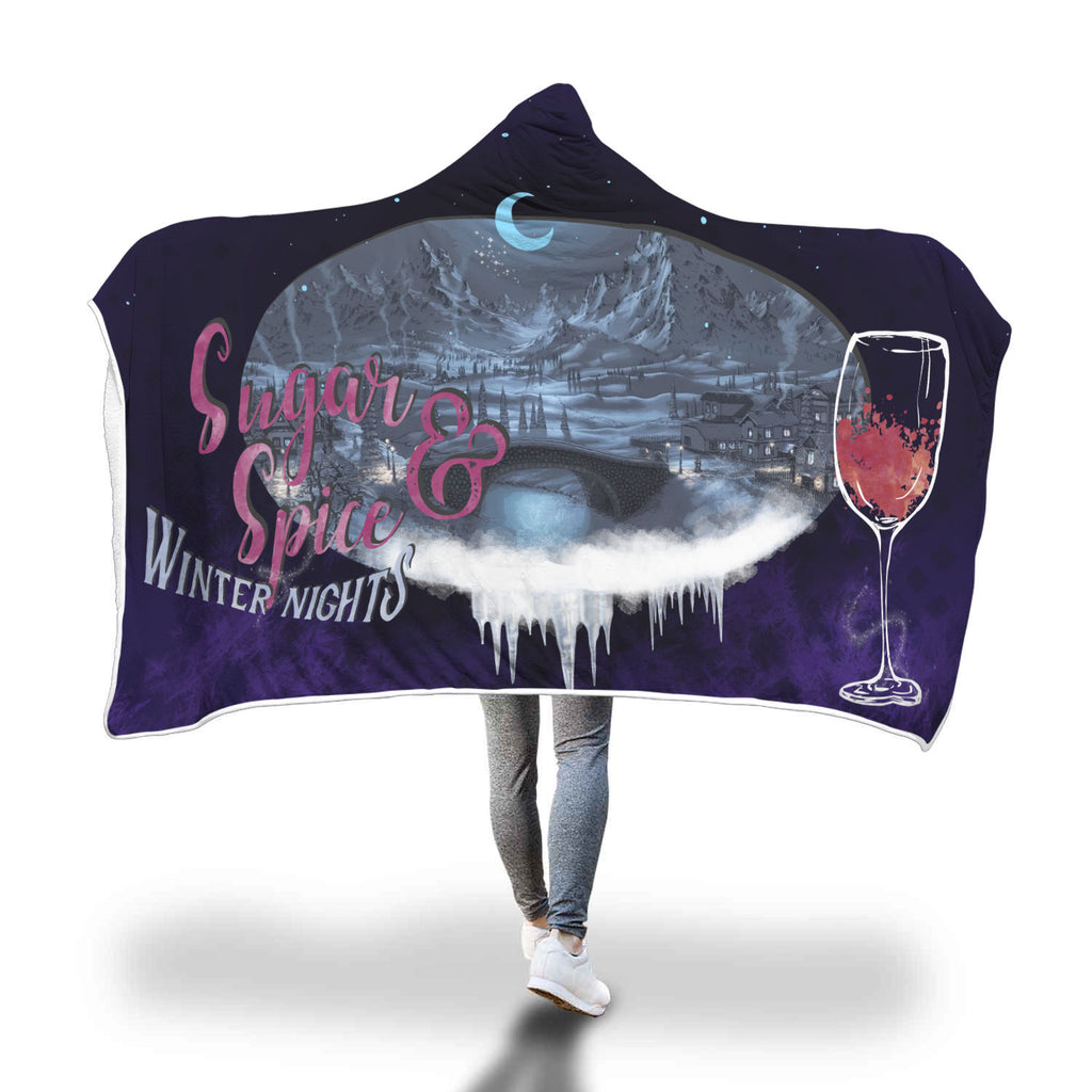 Sugar, Spice & Winter Nights Hooded Blanket