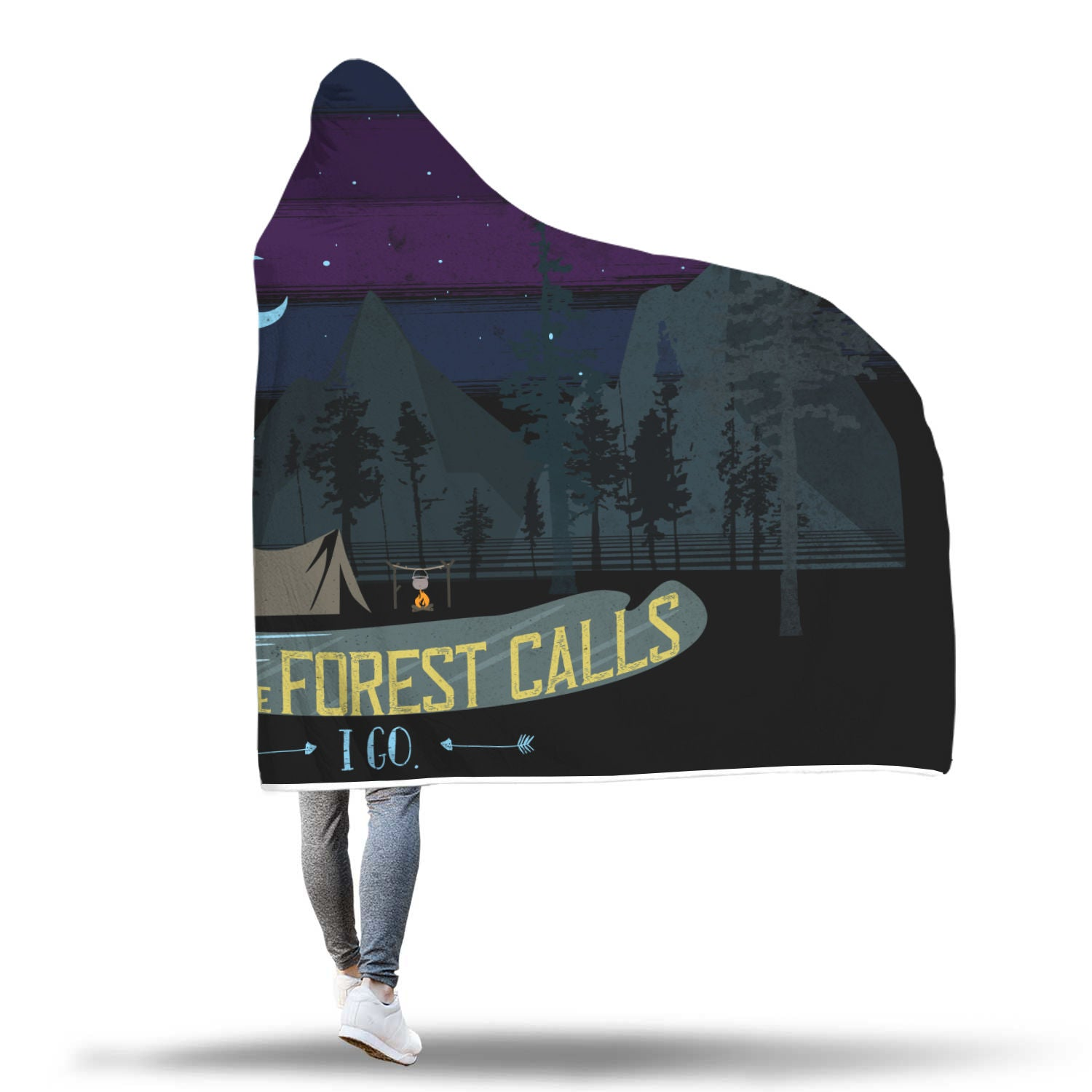 When the Forest Calls Hooded Blanket