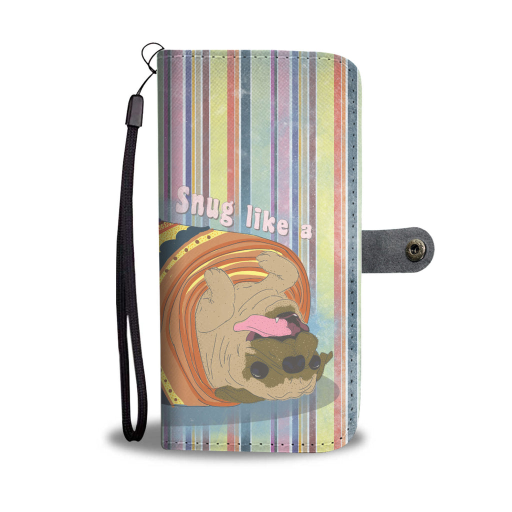 Pug In a Rug Wallet Case