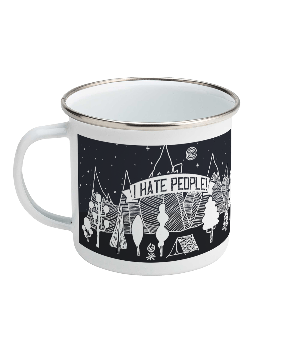 I Hate People Enamel Mug