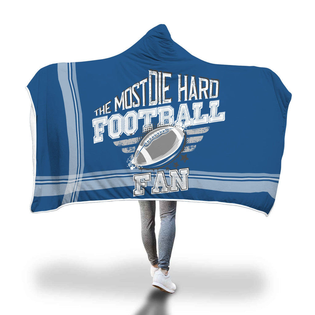 Blue White Football Bleacher Blanket