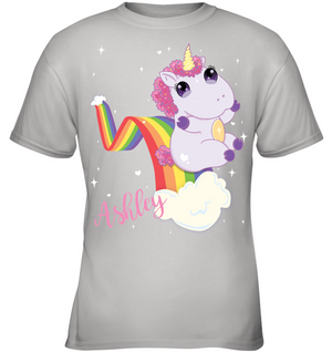 Cute Unicorn Kids T-Shirt - Custom Name