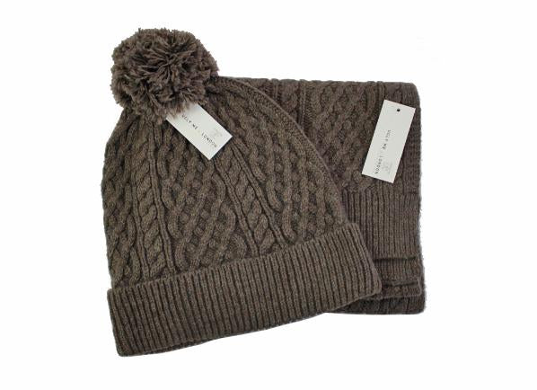 4e40482e2fef9 Mens Classic Brown Cable Knit Beanie from Ugly Me London – Pretty ...