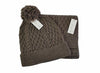 Men's Classic Brown Cable Knit Scarf