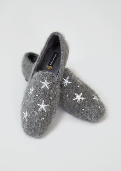 Slippers Womens House Shoe Britt - Charcoal from Pretty You London