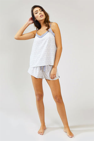 Nightwear Womens Nightwear Shorts - Romance in White from Pretty You London