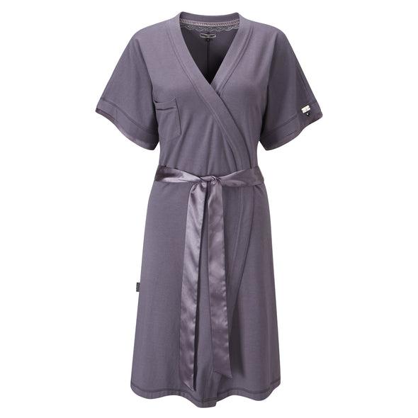 Loungewear Wrap in Smokey Pearl from Pretty You London
