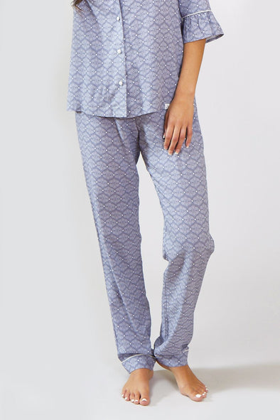Womens Nightwear Trousers - Romance in Grey