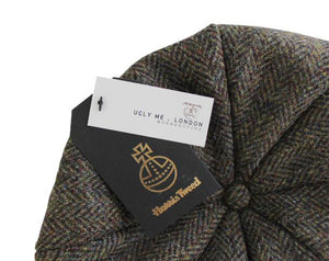 Accessories Men's Harris Tweed Bakerboy Hat from Pretty You London