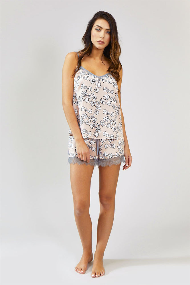Nightwear Womens Nightwear Shorts - Floral in Blush Pink from Pretty You London
