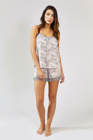 Load image into Gallery viewer, Nightwear Womens Nightwear Shorts - Floral in Blush Pink from Pretty You London