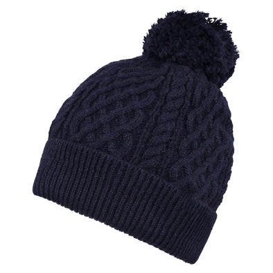 Accessories Men's Classic Navy Cable Knit Beanie from Pretty You London