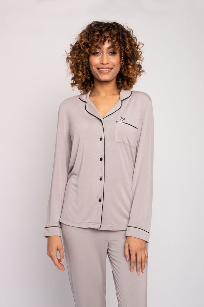 Load image into Gallery viewer, Bamboo Pajama Set in Mink