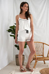 Nightwear Womens Bamboo Cami and Short Pyjama Set Cream from Pretty You London