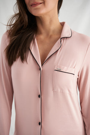 Nightwear Womens Bamboo Nightshirt Pink from Pretty You London
