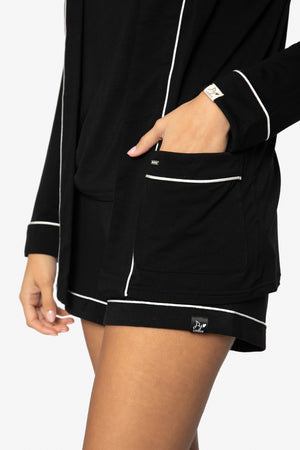 Bamboo Nightwear Jacket in Black