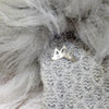 Premium Grey Faux Fur Cuff Gloves