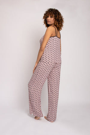 Load image into Gallery viewer, EcoVero Cami Pant Pajama Set in Pink