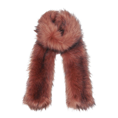Accessories Premium Pink Faux Fur Scarf from Pretty You London