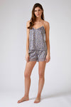 Nightwear Womens Nightwear Shorts - Floral in Dove Grey from Pretty You London