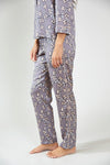 Nightwear Womens Nightwear Shirt - Floral in Dove Grey from Pretty You London